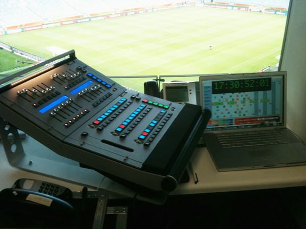 LTC reader in action at FIFA world cup soccer South Afrika